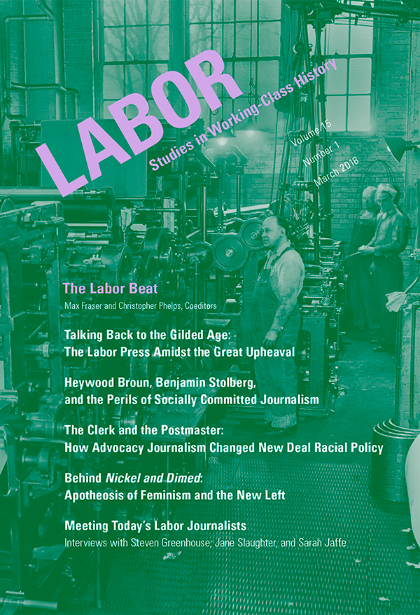 Labor poster about a the history of workers