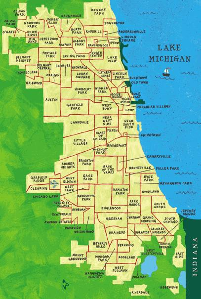 map of chicago neighborhoods